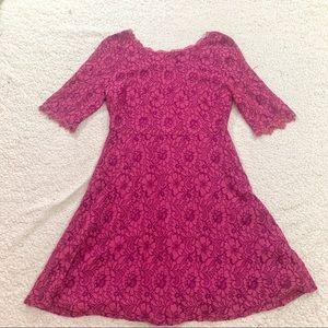 41 Hawthorne stitch fix pink lace fit flare dress